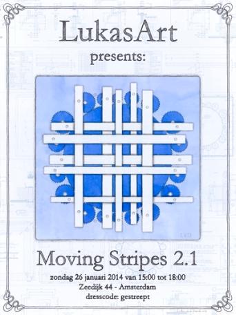 Poster LukasArt - Moving Stripes - gratis